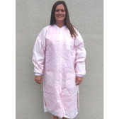 SMS Pink Color Labcoats w/ 3 pockets, Snap Front   pic 1