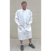Sunlite Ultra Lab Coat w/ 3 Pockets, Knit Collar & Cuffs   pic 1