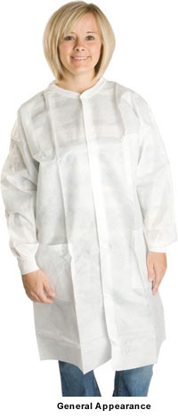 Polypropylene Lab Coats 1.25 oz No Pockets  pic 1