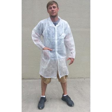 Polypropylene Lab Coats 1.25 oz Two Pockets  pic 1