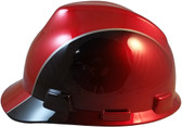 MSA Rally Cap V-Gard Hard Hats with Ratchet Suspension - Left Side View