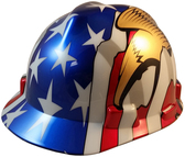 MSA V-Gard American Flag and 2 Eagles Hard Hats - Oblique View