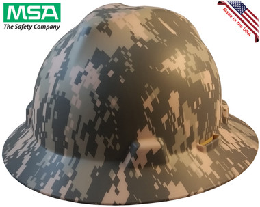 MSA FULL BRIM ACU Design Camouflage Hard Hats  - Oblique View