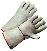 Welding Gloves w/ Gray Leather Pair Pic 1