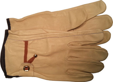 Cowhide Driver Gloves with String Pull Straps Pic 1