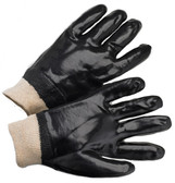 PVC Gloves w/ Smooth Finish & Knit Wrist Pic 1