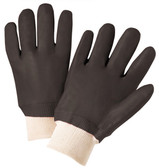 PVC Gloves w/ Sandpaper Finish & Knit Wrists Pic 1