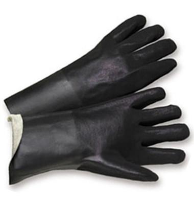 PVC Gloves 14 inch w/ Sandpaper Finish Pic 1