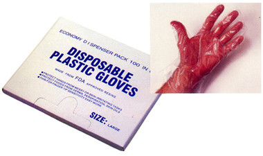 Plastic Disposable Gloves (1000 ct box) Pic 1