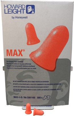 Howard Leight Max 30 Ear Plugs No Cords (500 Count) # Max-1-D pic 2