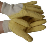 Rubber Palm Coated With Knit Wrist Gloves Pic 1