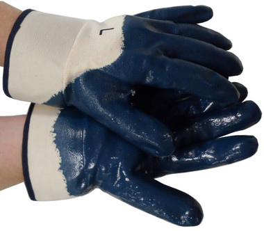 Nitrile Palm Coated w/ Safety Cuff Gloves Pic 1