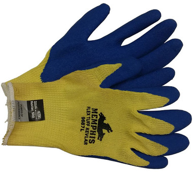 Kevlar Stiched glove Bear Kat w/ Blue latex palm Pic 1