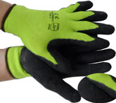 LIME Seemless Conforming Glove with Black Palm Pic 1