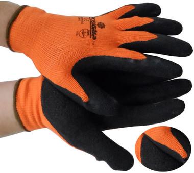 ORANGE Seemless Conforming Glove Black Palm Pic 1
