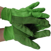 LIME Polychord Glove with Black Dots on One Side Pic 1