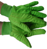 Double Palm Cotton/Polyester Green Polychord Gloves Pic 1