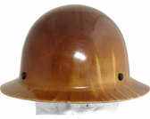MSA Skullgard Full Brim ~  Natural Tan  ~  Front View