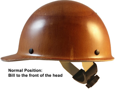 MSA Skullgard Cap Style Hard Hats With SWING Suspension ~Side View 1