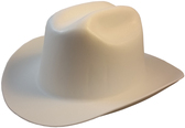 Outlaw Cowboy Hardhat with Ratchet Suspension White pic Oblique