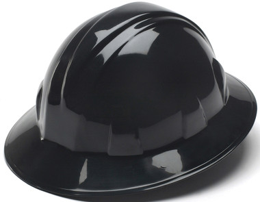 Pyramex 4 Point Full Brim Style with RATCHET Suspension Black - Oblique View