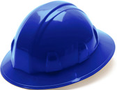 Pyramex 4 Point Full Brim Style with RATCHET Suspension Blue - Oblique View