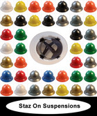 MSA V-Gard Full Brim Hard Hats with Staz-On Suspensions ~ All Colors