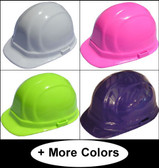 ERB-Omega II Cap Style Hard Hats With Ratchet Suspensions (All Colors)