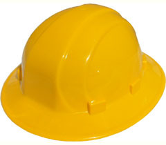 ERB Omega II Full Brim Hard Hats w/ Ratchet Yellow pic 1