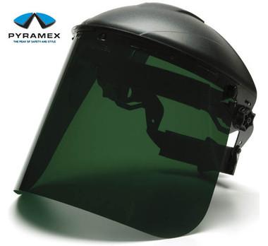 Pyramex Dark Green Faceshields pic 1