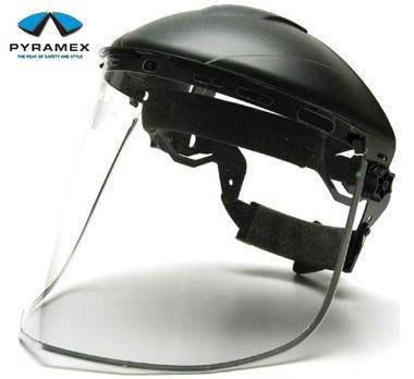 Pyramex Polycarbonate Clear Faceshield w/ Aluminum Edges pic 1