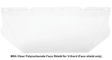 MSA Clear Polycarbonate Face Shield for V-Gard pic 1