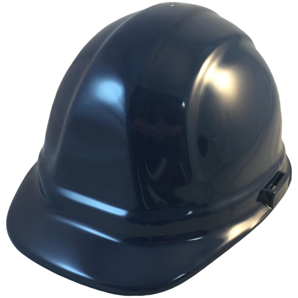 8dfb09758e0303 ERB Omega II Cap Style Hard Hats w/ Pin-Lock Dark Blue Color