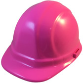 ERB-Omega II Cap Style Hard Hats w/ Ratchet Pink Color pic 1