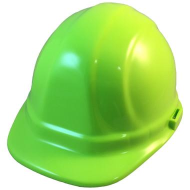 ERB-Omega II Cap Style Hard Hats w/ Ratchet Hi Viz Lime pic 1