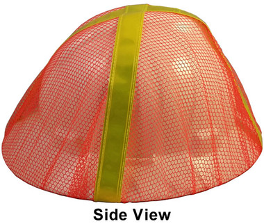 Hard Hat Mesh Covers Full Brim in Orange Color Pic 1