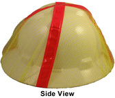 Hard Hat Mesh Covers Full Brim in Lime Color Pic 1