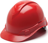 Pyramex Ridgeline Cap Style Hard Hats Red - Oblique View