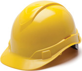 Pyramex Ridgeline Cap Style Hard Hats Yellow - Oblique View