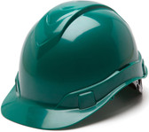 Pyramex Ridgeline Cap Style Hard Hats Green - Oblique View