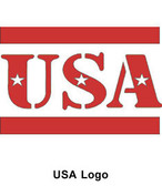 Reflective Hard Hat Decals ~ USA Logo