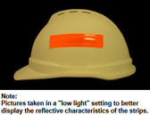 Reflective Strips for Hard Hats ~ ORANGE
