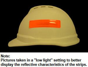 Orange Reflective Strips for Hard Hats Pic 1