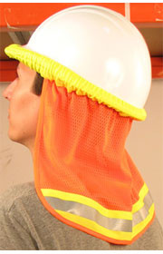 Orange ERB Reflective Neck Shields Pic 1