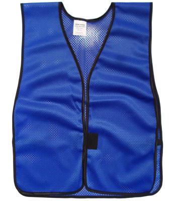 Royal Blue Soft Mesh Plain Safety Vest
