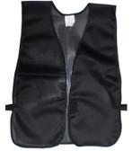 Black Soft Mesh Plain Safety Vest  pic 2