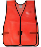 PVC Coated Plain Safety Vest Orange pic 2