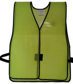PVC Coated Plain Safety Vest Lime pic 2