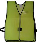 PVC Coated Plain Safety Vest Lime pic 2