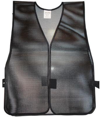 Pvc Coated Plain Safety Vest Black Buy Online